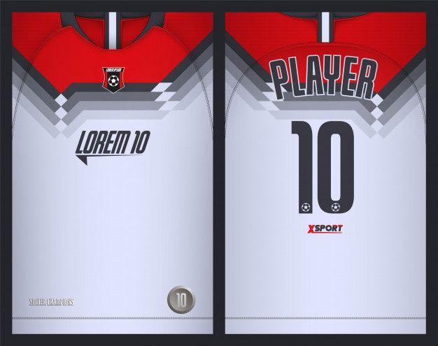 Soccer Jersey Template Sport T Shirt Design Premium Vector In 2020 Sports Tshirt Designs Soccer Jersey T Shirt Design Vector