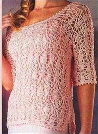 shirt crochet pattern ✿⊱╮Teresa Restegui http://www.pinterest.com/teretegui/✿⊱╮