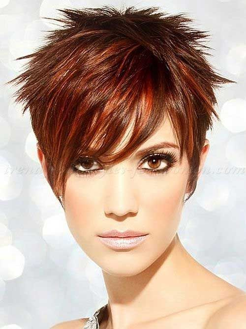 Red Layered Pixie Bob Idea
