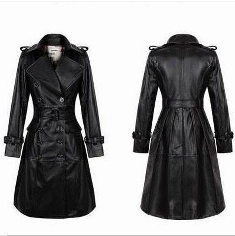 Chaqueta de Cuero Larga para Mujer - Para Más Información Ingresa en: http://imagenesdevestidosdenovia.com/chaqueta-de-cuero-larga-para-mujer/