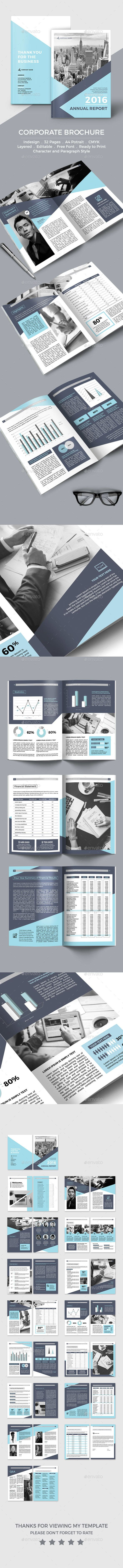 Annual Report Template InDesign INDD. Download here: https://graphicriver.net/item/annual-report/17414819?ref=ksioks