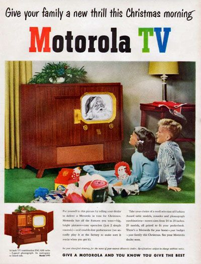 1950 TV ad, via http://clickamericana.com/holidays-seasons/christmas/the-straight-facts-about-color-tv-1950