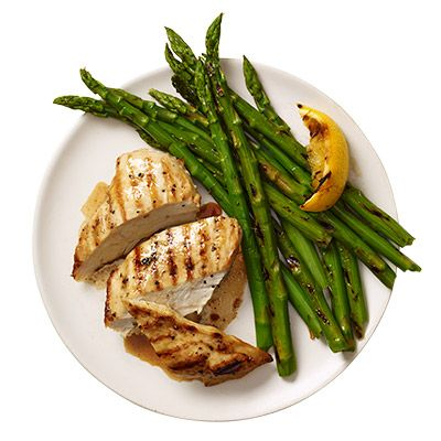 Grilled Lemon Chicken and Asparagus