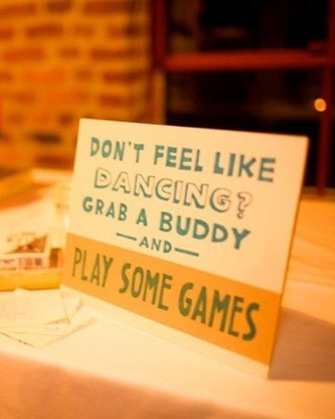 Stock one table with classic board games. | 27 Impossibly Fun Ways To Entertain Kids At Your Wedding