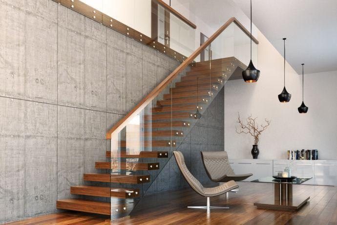 Schody nowoczesne 51 - producent schodów drewnianych Schodo-System
