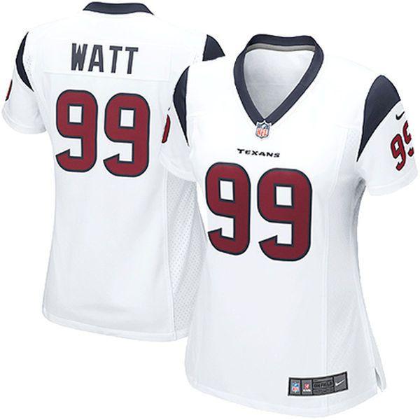 womens houston texans jj watt nike white game jersey 95 liked on polyvore