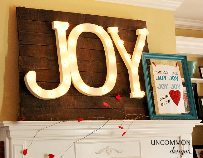 valentine display from uncommon designs. (very versatile for holidays)