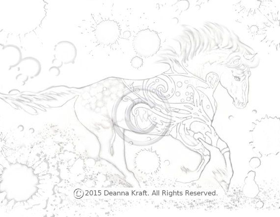 Flourish Horse Coloring Page