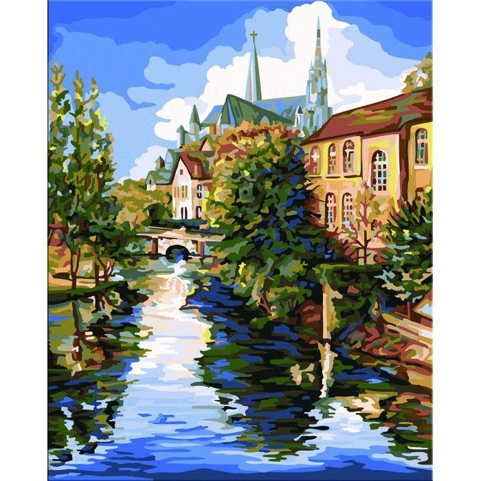 Шартрский собор (художник Боб Петтес) Раскраска картина по ...
