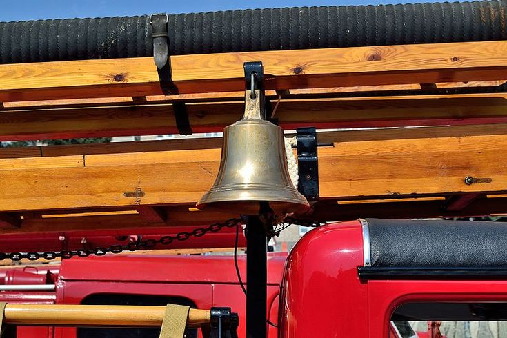 The bell of a Soviet PMG-1 fire engine. Photo by Dmitry Ivanov. 2015. #1930s #automobile #firetruck #oldtimer #oldtruck