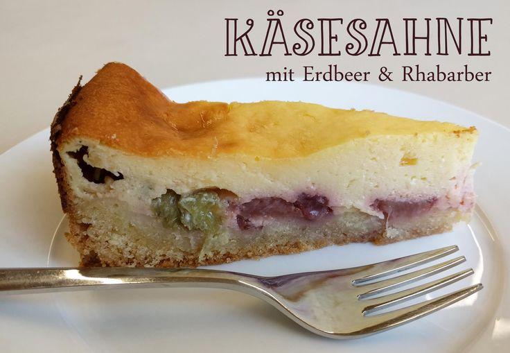 """""""Say cheeeese!""""    Feine Käsesahne mit Erdbeer & Rhabarber"""