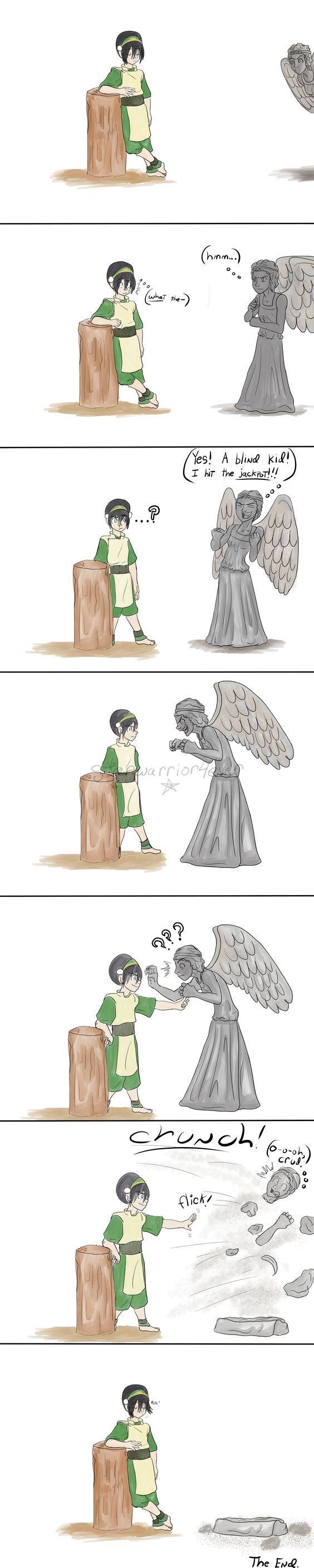 Toph vs a Weeping Angel