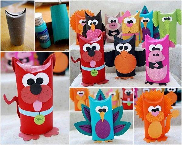 DIY Toilet Tube Animals - http://www.weddingdesigntips.com/home-decoration/diy-toilet-tube-animals.html