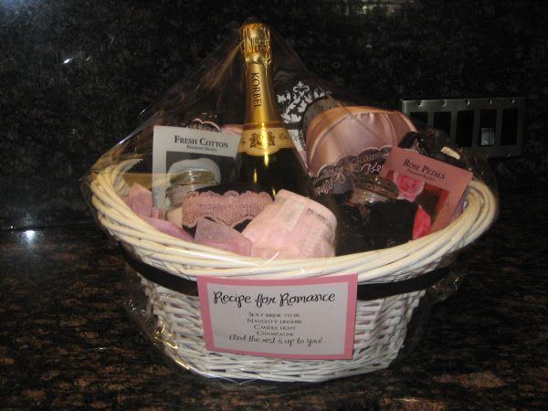 I put this gift basket together for a soon-to-be-bride for her combo bridal shower/bachelorette party. I have to say this was probably the c...