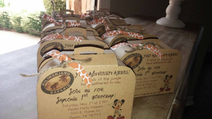 Mickey Mouse Safari luggage Invitation by ForTheLoveOfPaperTX