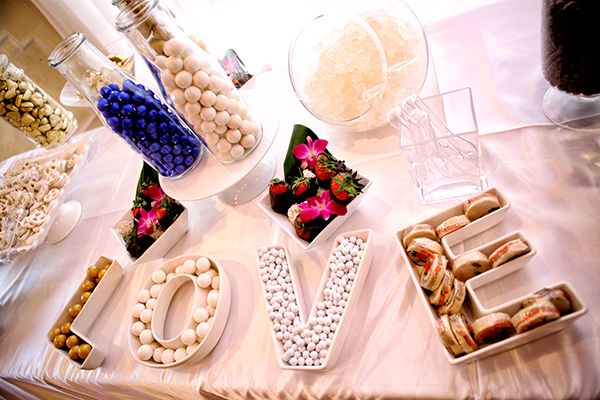 love letter dishes for candy bar modern romantic los angeles wedding photography