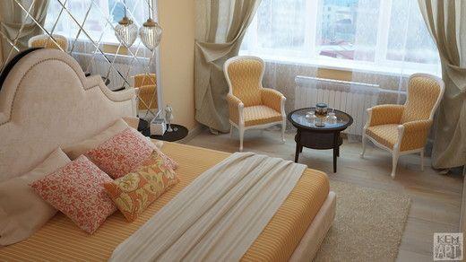 В лучах осеннего солнца. Спальня http://www.myhome.ru/idea/interior/11104#