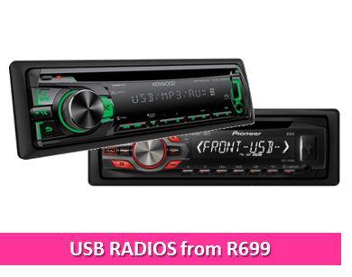 USB Car radios from R699