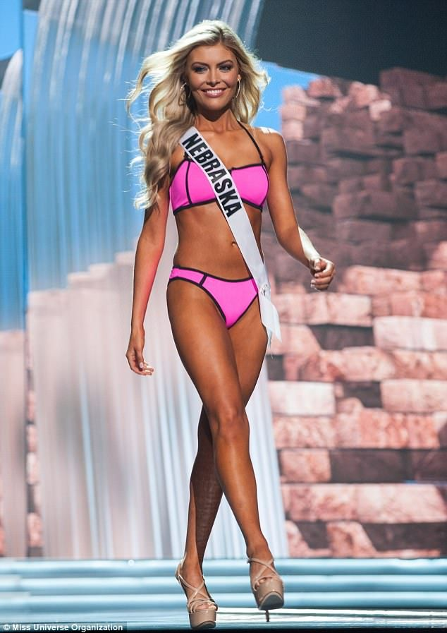 Miss NebraskaJasmine Fuelberth, pictured,grew up modeling since the age of 9 and has worked for GUESS Kids, H&M Kids, Gordman's, and Beaches Resort