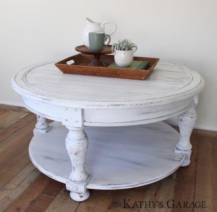 White Coffee Table Farmhouse Coffee Table Round Coffee Table Shiplap Distressed Table Coffee Table Farmhouse Chalk Paint Coffee Table Coffee Table White