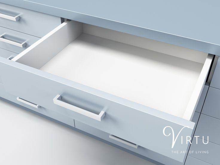 We have plenty of ways to ensure your new Virtu Kitchen stays clutter free. View storage solutions at http://www.virtukitchens.uk/storage/  #TheArtOfLiving #VirtuKitchens