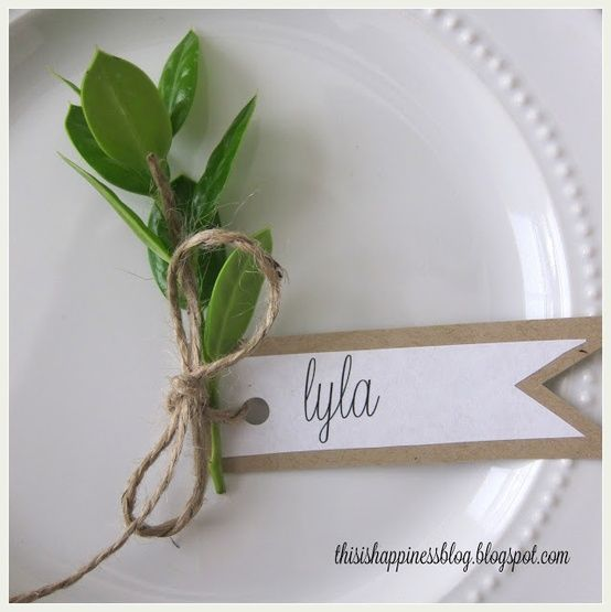 ciao! newport beach: creative thanksgiving place cards