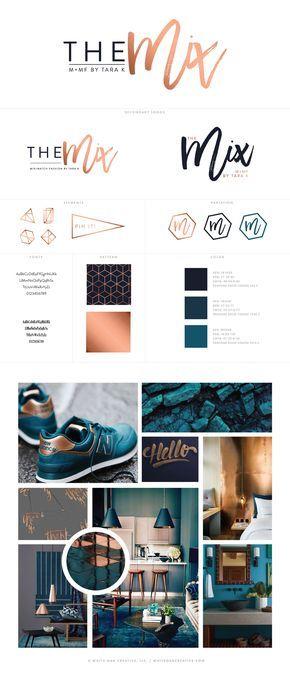 The Mix By Tara K Brand Identity and Blog Design - logo design, wordpress theme, mood board inspiration, blog design idea, graphic design, branding, style blog, fashion