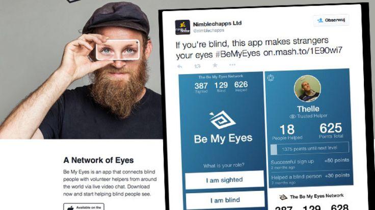 """""""Bądź moimi oczami"""". Aplikacja, która pomaga niewidomym """"widzieć"""". http://www.tvn24.pl/internet-hi-tech-media,40/be-my-eyes-aplikacja-ktora-pomaga-niewidomym-widziec,506929.html"""