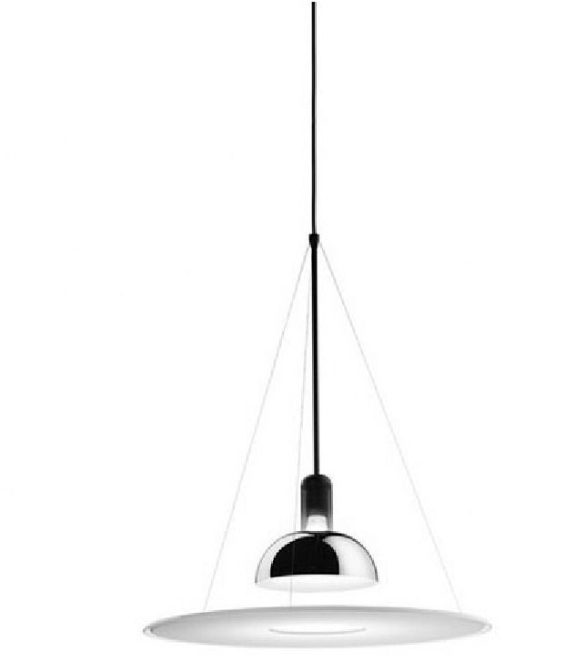 FRISBI SUSPENSION LAMP BY ACHILLE CASTIGLIONI | From a unique collection of antique and modern chandeliers and pendants  at https://www.1stdibs.com/furniture/lighting/chandeliers-pendant-lights/