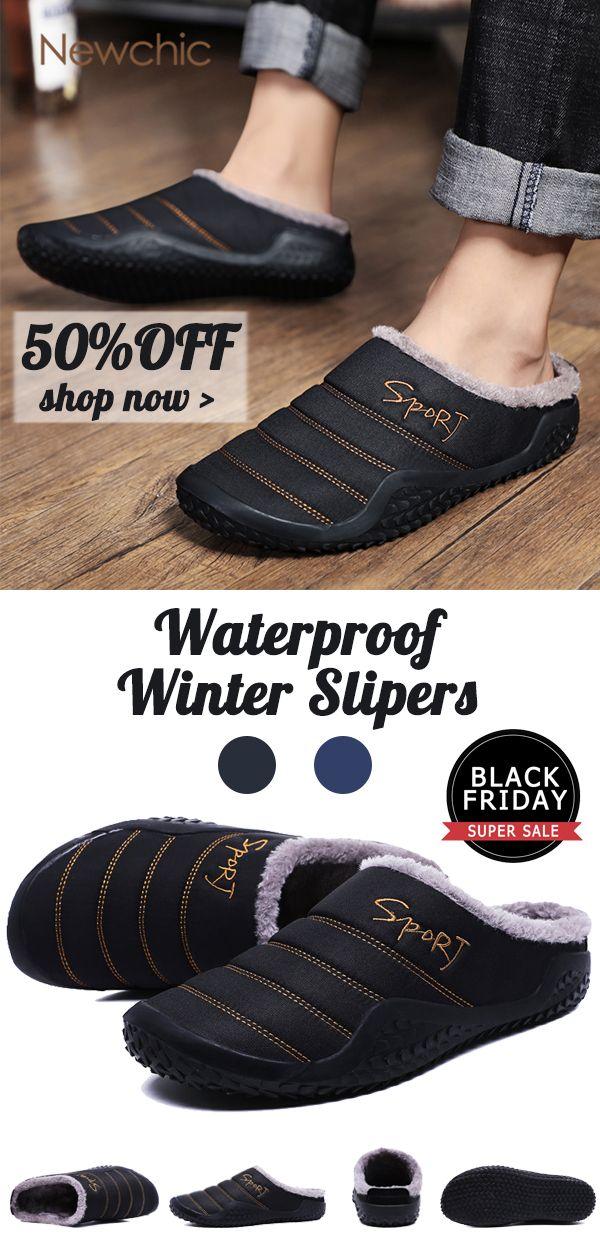 Men Waterproof Plush Lining Non-slip
