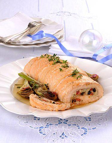 Rotolo di trota salmonata Un gustoso antipasto o un secondo piatto da leccarsi i baffi. Leggero e senza glutine