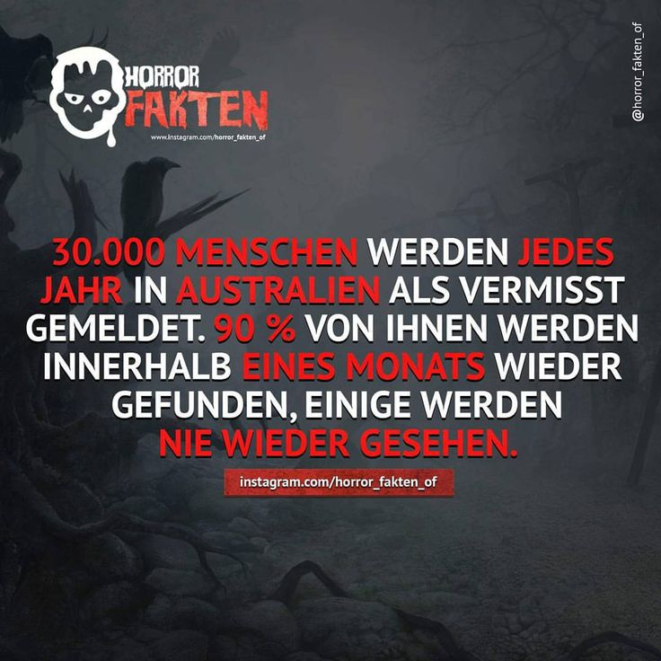 Wie viele sind es wohl in Deutschland? #horror #horrorfakten #fakten