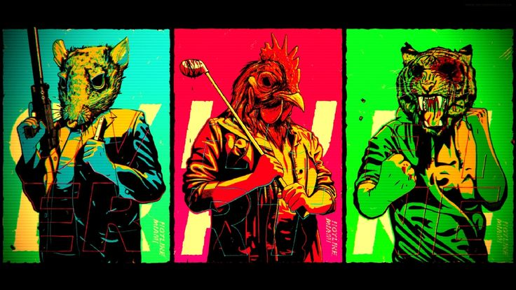 Everytime I see anything Hotline Miami, I just think of the music video for Animals, by Martin Garrix -Will