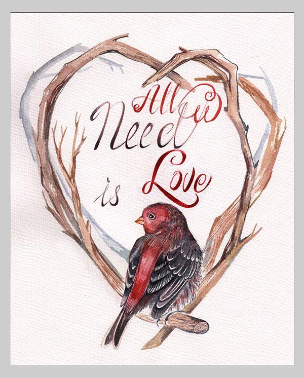 Серия картин птица и венок из веток. Рисовала акварелью, разных птиц!