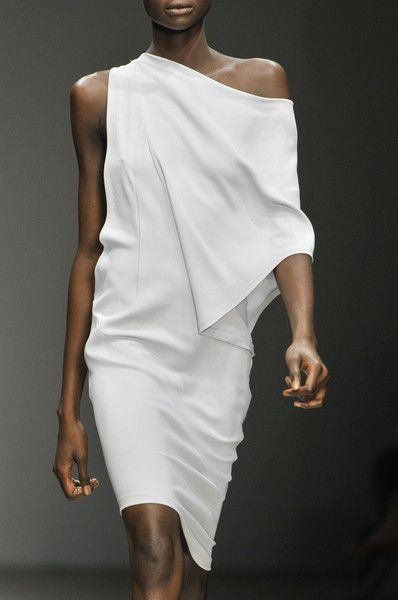 Todd Lynn | White Draped Dress | Minimal + Chic | @CO DE + / F_ORM