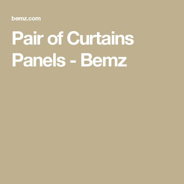 Pair of Curtains Panels - Bemz
