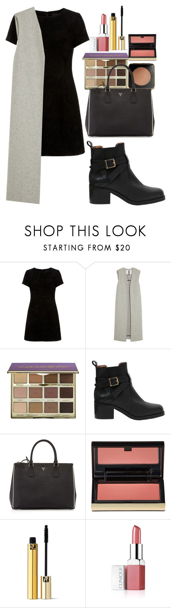"""""""Untitled #707"""" by imadeintheuk ❤ liked on Polyvore featuring Topshop Unique, tarte, Carvela Kurt Geiger, Prada, Kevyn Aucoin, Yves Saint Laurent, Clinique, outfit, topshop and newlook"""
