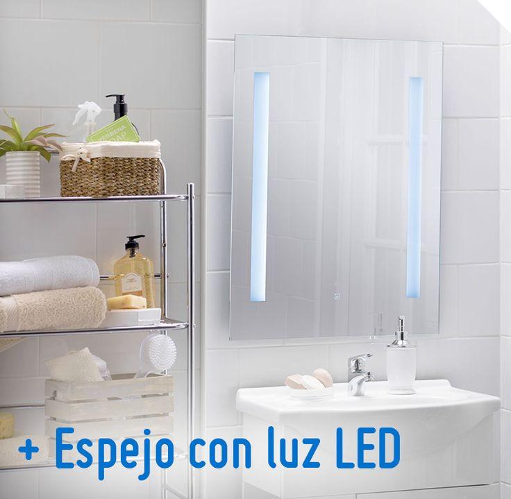 sd design espejo con luz led x cm