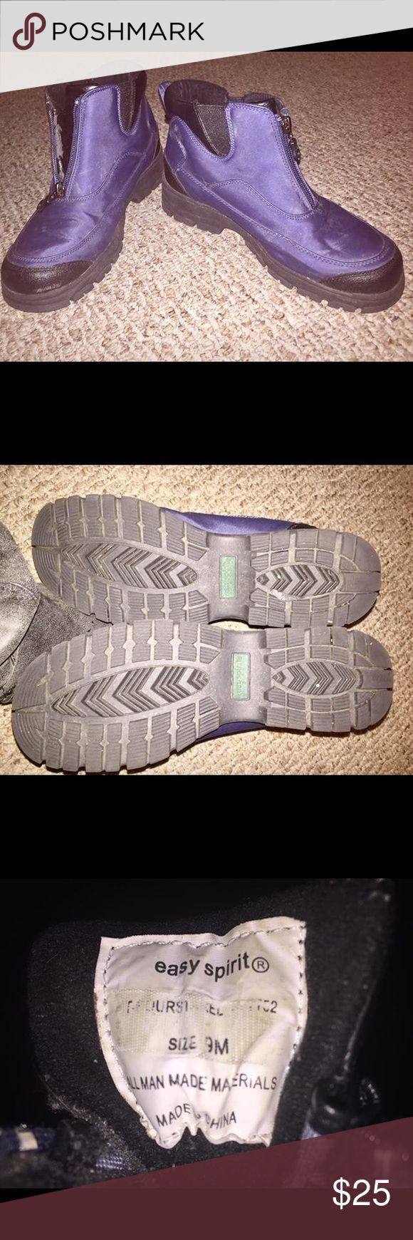 Easy Spirit Snow Boots Zip Up Heavy Tread Sz. 9 Easy Spirit Snow Boots. Purple/Bluish color.  Zip up, thick heavy tread bottom, sz. 9 Easy Spirit Shoes Winter & Rain Boots