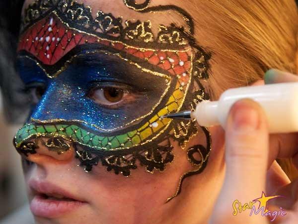 venetiaans masker schminken stap voor stap  Face Painting .. schminken ..