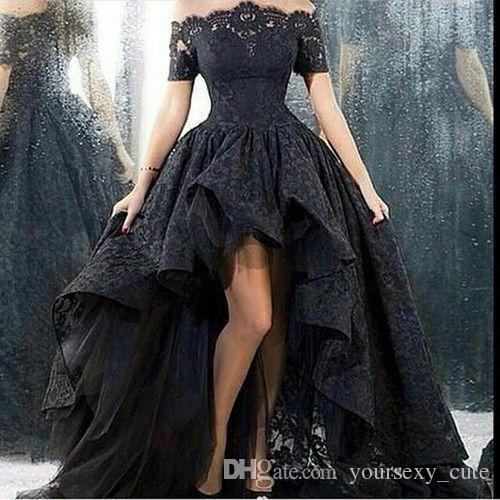 Schwarzes kleid tull