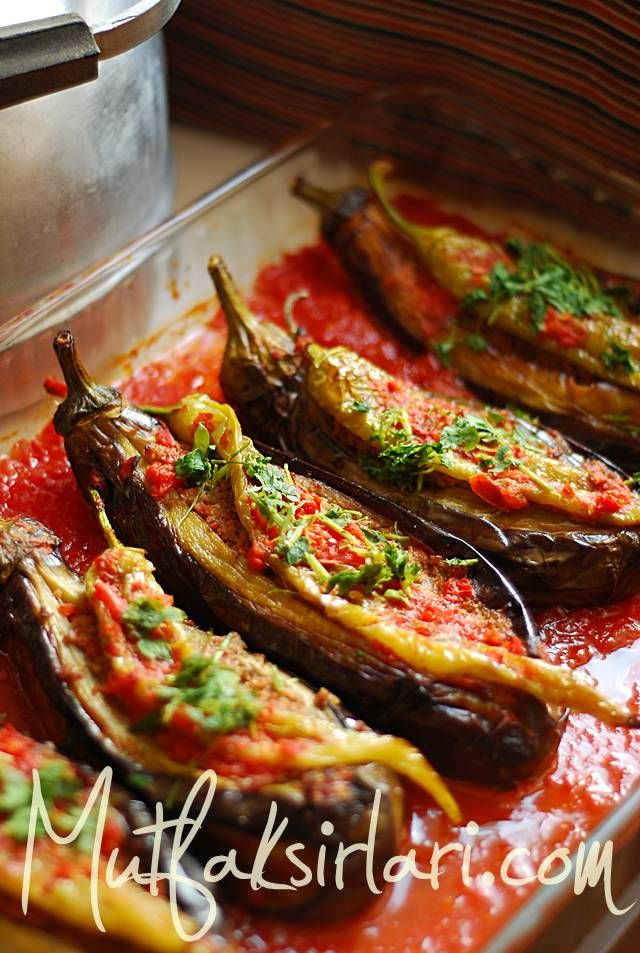 Karniyarik, Turkish egg plant and minced meat dish