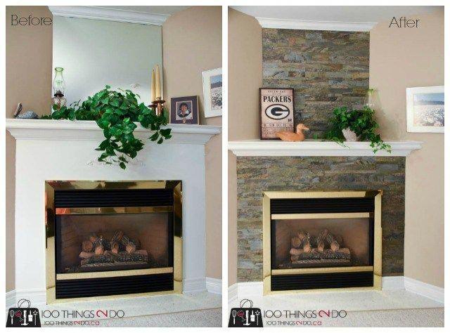 Fireplace Surround Aspect Peel Stick Tile Stone Fireplace Surround Stone Fireplace H In 2020 Fireplace Surrounds Stone Fireplace Surround Fireplace Tile Surround
