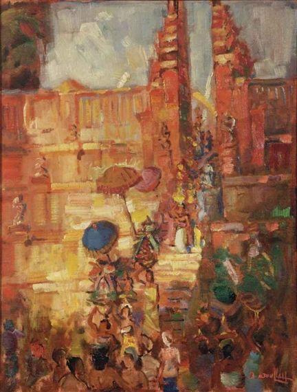 Basoeki Abdullah - Temple pengorbanan