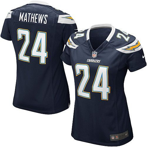 Women's Nike San Diego Chargers #24 Ryan Mathews Elite Team Color Navy Jersey $109.99