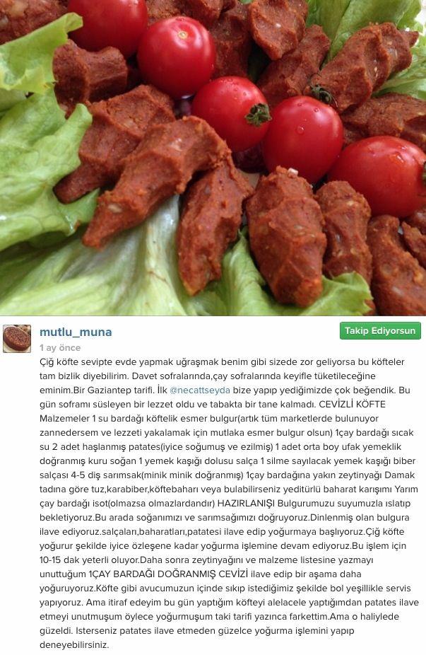 Cevizi Köfte - (instagramdan alıntıdır)