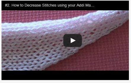 How to Decrease Stitches using your Addi Machine http://youtu.be/DC2CIA36Em4