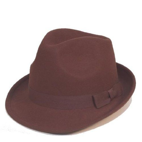 GENT'S SMART FELT TRILBY HAT WITH MATCHING BAND - 100% WOOL (58cm, BROWN) VIZ http://www.amazon.co.uk/dp/B00EDN5CGM/ref=cm_sw_r_pi_dp_PDi3wb1AE4M8H