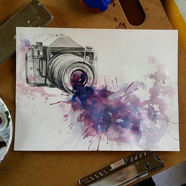 55 Very Easy Watercolor Painting Ideas For Beginners Feminatalk Watercolor Paintings Easy Watercolor Paintings Art