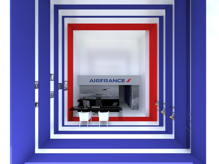 Interior of Air France office on Behance